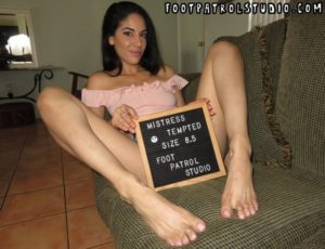 Feet Hungry with Mistress Tempted