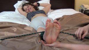 Luna's Little Feet Are SO Ticklish!