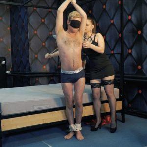 Tickling Submissive male by Agata – Lick my feet, ticklish boy!